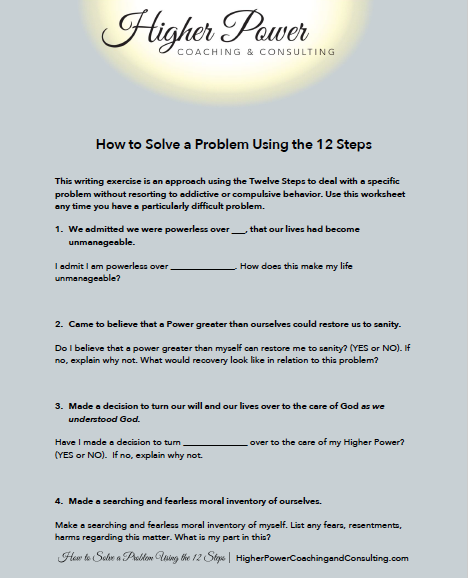 How to Solve a Problem Using the 12 Steps Downloadable PDF