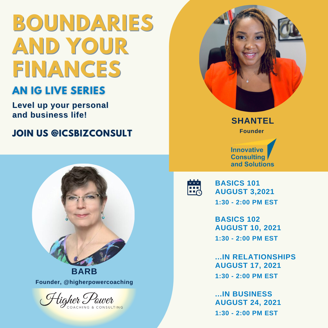 Boundaries and Finances - IG Live Series - August 2021-PROMO